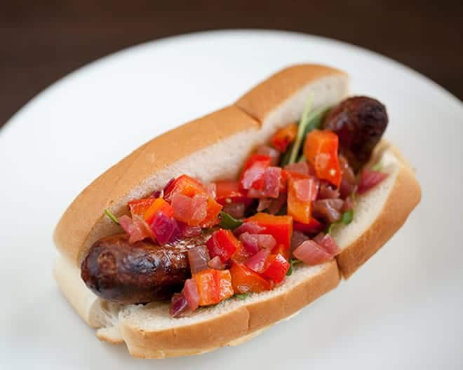 Chorizo Hot Dogs