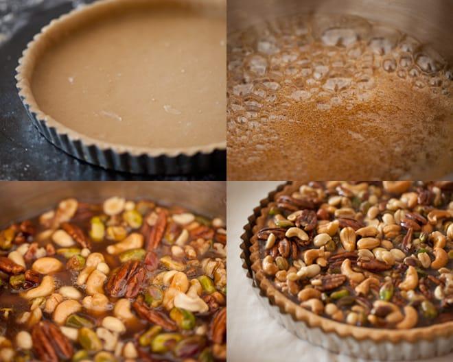 Caramel-Nut Tart Recipe — Dishmaps