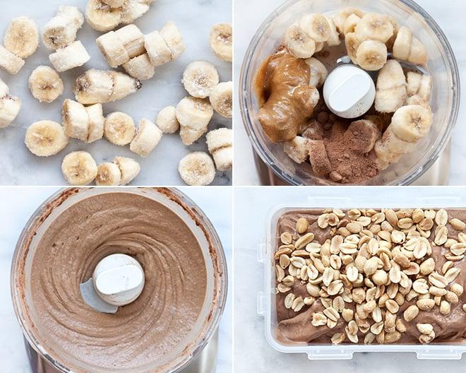 Chocolate Salted Peanut Nice Cream