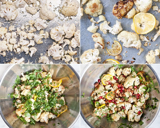 Roasted Cauliflower Meyer Lemon Salad