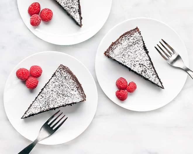 Flourless Chocolate Almond Olive Oil Cake