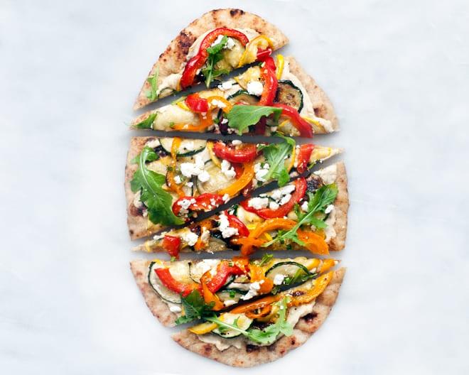 Roasted Vegetable Naan Flatbread
