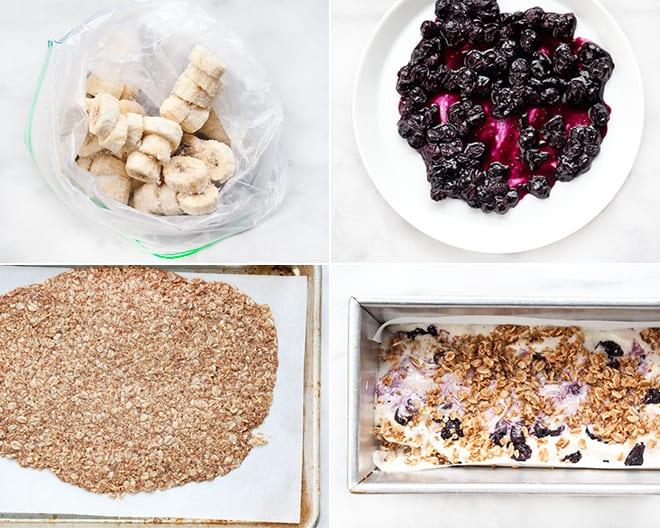 Vegan Blueberry Crumble Ice Cream