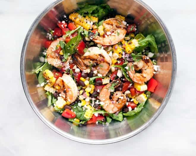 Grilled Chipotle Shrimp & Corn Salad